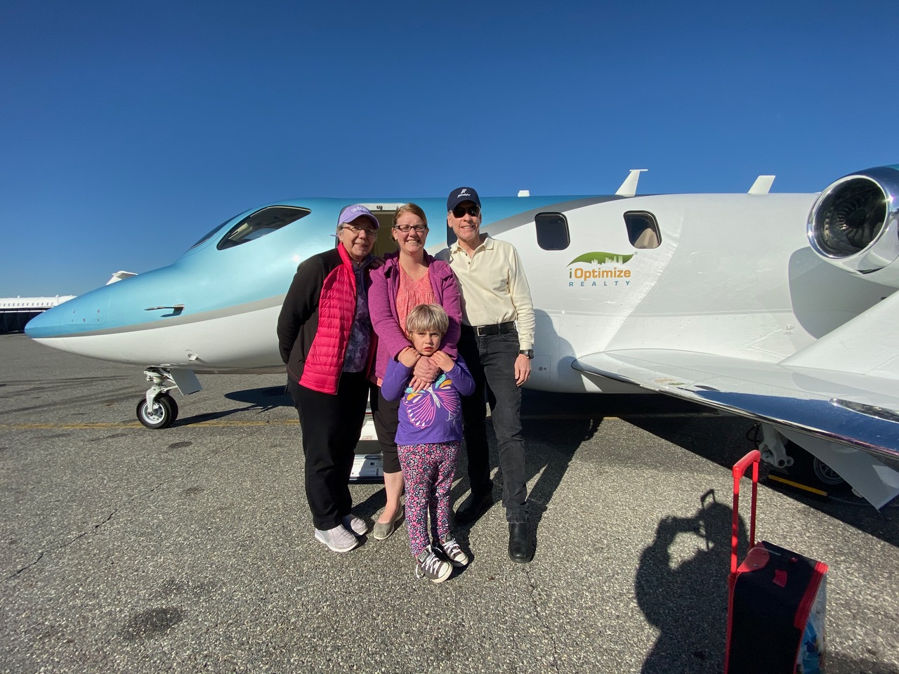 To Canada, with love - iOptimize Realty® uses corporate jet for charity flight bringing Canadian patient home.